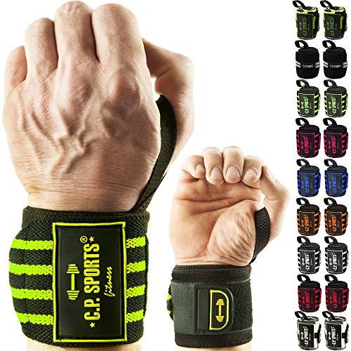 C.P. Sports Strongman Handgelenk Bandagen Fitness boxbandagen handgelenkbandage Bandage Handgelenk handgelenkstütze handgelenkschoner Wrist wrap Box Bandagen Handstand stütze Camouflage Weiß