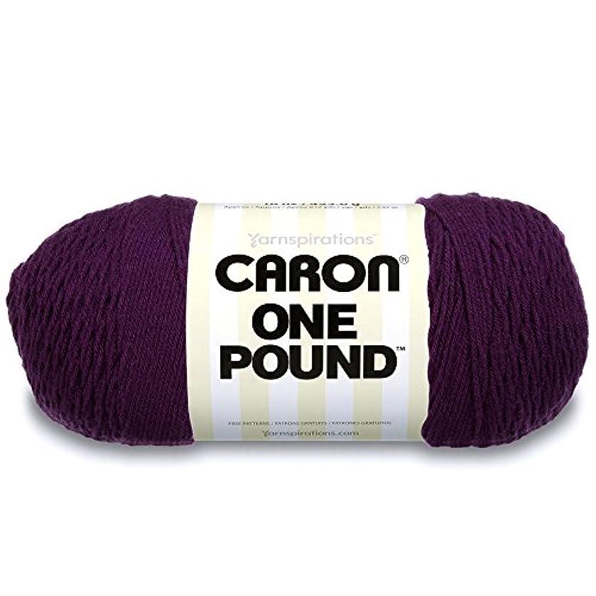 Caron  One Pound Solids Yarn - (4) Medium Gauge 100% Acrylic - 16 oz -  Deep Violet- For Crochet, Knitting & Crafting