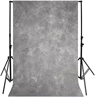 Yeele 3x5ft Vintage Gray Photography Backdrops Solid Fuzzy Gradient Pastel Chic Colours Design Photo Background Photobooth Adult Baby Party Photo Video Shoot Studio Props Drop Vinyl Wallpaper