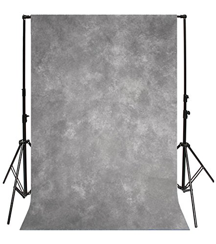 Yeele 5x7ft Gradient Grey Backdrop for Photography Solid Abstract Dark Color Blurry Gray Background Kids Girl Man Pets Product Portrait Photoshoot Props Digital Wallpaper