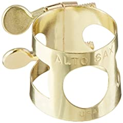 Universal ligature used to hold instrument mouthpieces in place Two adjustable screws to customize the fit of the diameter of the instrument Compatible with all models of Yamaha Alto Saxophones Lacquered Brass finish gives it an elegant gold look Mad...