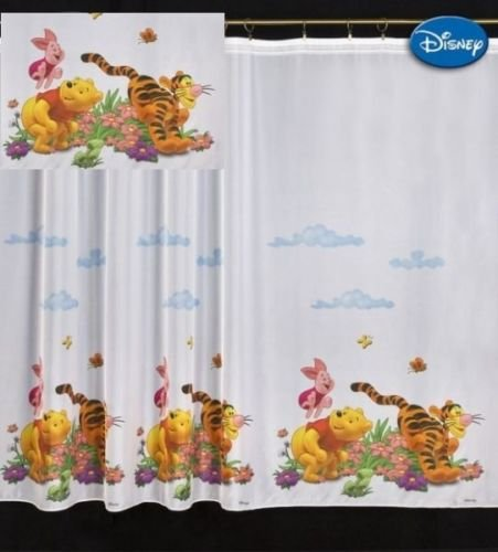 Winnie the Pooh Cortina de gasa para niños (150 x 280 cm)