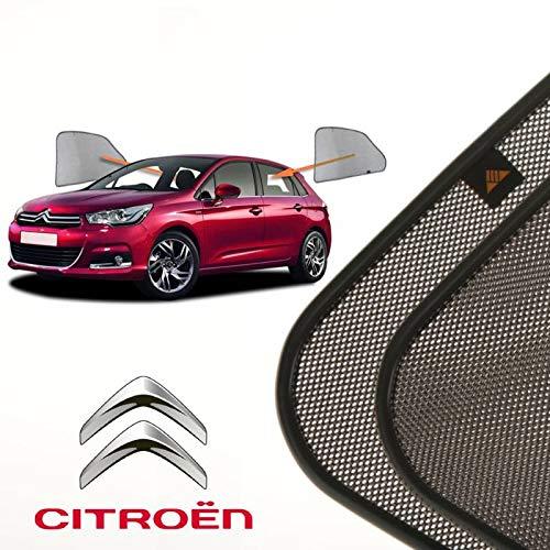 Cortinillas Parasoles Coche Laterales Traseras a Medida para Citroen C4 (2) (2010-presente) Hatchback 5 Puertas