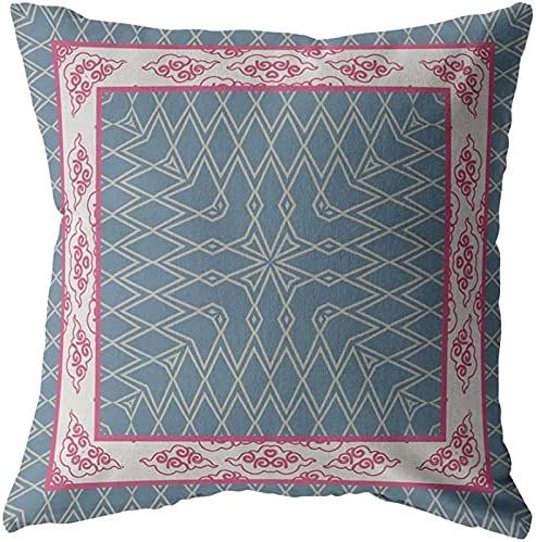 Amrita Sen Designs Square Oklahoma City Mall Nest a National products Zippered Pink Broadcloth Pillow