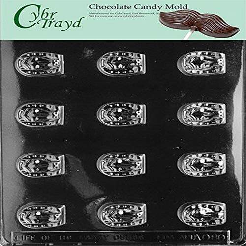Cybrtrayd Life of the Party AO080 Hufeisen-Form für Schokolade, Süßigkeiten, in versiegeltem schützendem Polybeutel, bedruckt mit urheberrechtlich geschützter Cybrtrayd-Anleitung