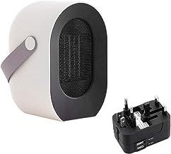 YLOVOW Mini Calefactor, Silence Mini Calentador De Ventilador De Cerámica Refrigeración Eléctrico Portátil Función Protección contra Sobrecalentamiento, para Hogar Y Oficina