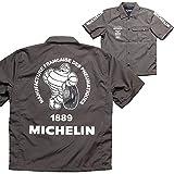 MICHELIN(ミシュラン) バイク PITシャツ ML19107S ワークシャツ (グレー, M)