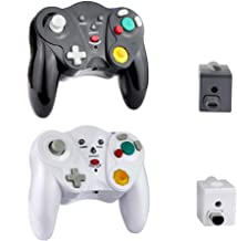 $38 » VTone Wireless Gamecube Controller, 2 Pieces 2.4G Wireless Classic Gamepad with Receiver Adapter for Wii Gamecube NGC GC (...