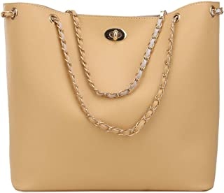 Simple And Stylish Big Bag/Messenger Bag Wild Female Bag/Large Capacity Packet Single Picture. jszzz (Color : Beige)