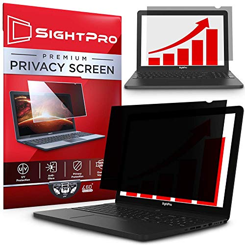 SightPro 15.6 Inch Laptop Privacy Screen Filter for 16:9 Edge-to-Edge Widescreen Display - Computer Monitor Privacy and Anti-Glare Protector