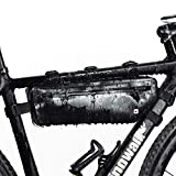Selighting Borsa Bici,Borsa Triangolare da Bicicletta Telaio 100% Impermeabile Borsa Frontal Sacchetto per Casual/Trekking/MTB/Mountain Biking, 2,5L (Nero)