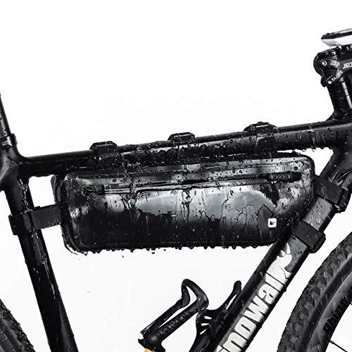Selighting Fahrrad Rahmentasche Wasserdicht Fahrradtasche Fahrrad Oberrohrtasche für Mountainbike Rennrad (Schwarz)