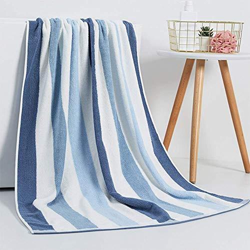 GLYHVXZ Toallas de baño Grandes de algodón, Toallas de algodón no descoloridas, Toallas de baño, absorción de Agua Suave y Fuerte, adecuadas para baño, Gimnasio, 90 * 180 cm,Azul