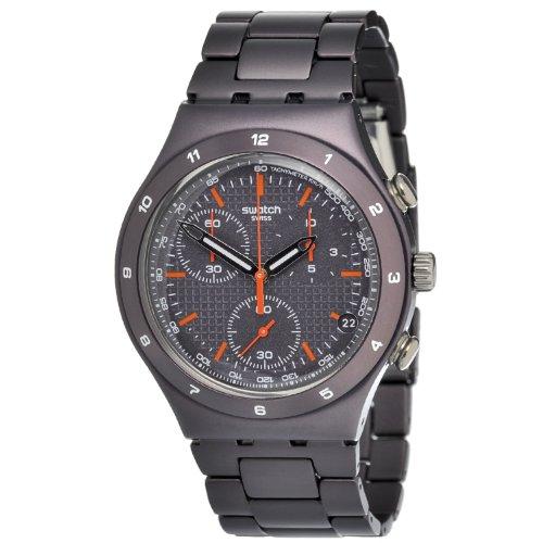 Swatch YCC4000AG - Reloj cronógrafo de Cuarzo para Mujer con Correa de Acero Inoxidable, Color marrón