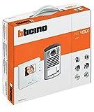 BTicino 365511 Kit Videocitofono Classe 100V12B e Pulsantiera Linea 2000 con Telecamera a Colori, Bianco