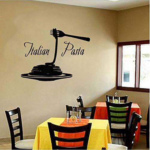 Italien Essen Pizza Wandaufkleber Vinyl Home Decor Restaurant Pasta Italienische Nudeln Küche Abziehbilder Abnehmbare Innendekoration 55X42Cm