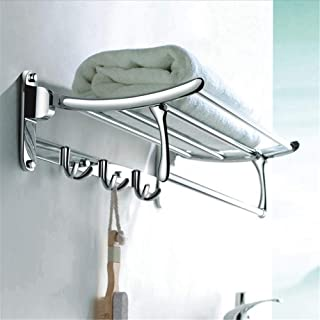 LUKEEXIN Stainless Steel Activity Towel Rack Thickened Folding Towel Rack Pendant (Color :, Size : 50cm)