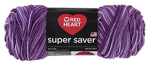 Red Heart Super Saver Economy Yarn, Purple Tones (E300.0546)