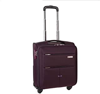 Business Trolley Universal Wheel Suitcase, Luggage Travel Multi-Function Boarding Package 17-inch (Color : Wine red, Size : 17-inch)