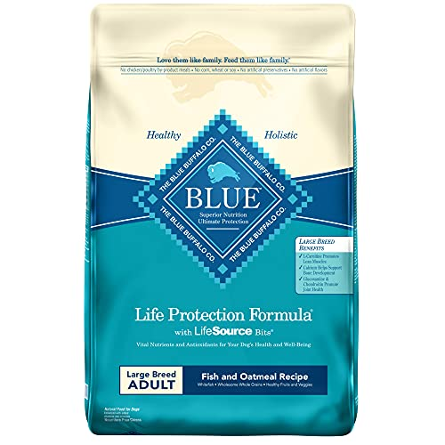Blue Buffalo Life Protection Formula Natural Adult Large Breed Dry Dog Food, Fish and Oatmeal 30-lb