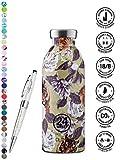 Clima - Botellas de agua (24 unidades, 330 ml, 500 ml, 850 ml) Colores con bolígrafo Lieblingsmensch. 500 ml Rajah.