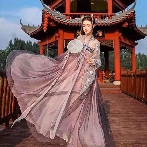 HongYa 2021 Femmes Traditionnelles Fleur Hanfu Robe Ancien Costume Chinois Belle Danse Hanfu Originale Princesse Tang Dynastie Robe