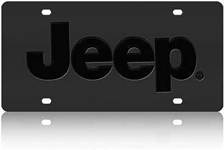Ford Explorer with Logo Black Coated Zinc Metal License Plate Frame 4 Hole
