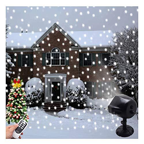 Luci di caduta della neve del LED, LANDEE luci del proiettore di Natale, Decorazioni natalizie Indoor Outdoor impermeabile Fiocco di neve rotante Paesaggio lampada Illuminazione decorativa per Patio