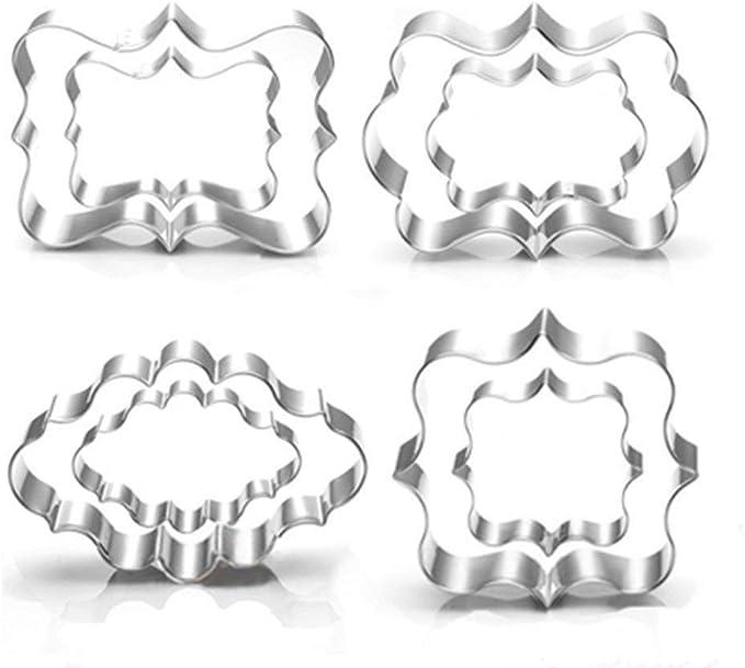 363 opinioni per Set di 8 formine per biscotti a forma di cornice quadrata, ovale e rettangolare,