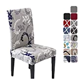 HZDHCLH 6 Pack Chair Covers for Dining Room,Soft Spandex Removable Washable Anti-dust Seat Slipcover, Protector for Hotel,Office,Ceremony,Banquet Wedding Party