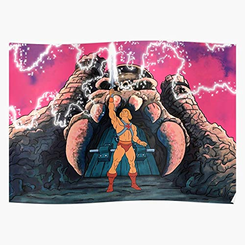 Wolvpower Heman Universe Filmation Adam Master Battlecat Grayskull Shera Das eindrucksvollste und stilvollste Poster für Innendekoration, das derzeit erhältlich ist