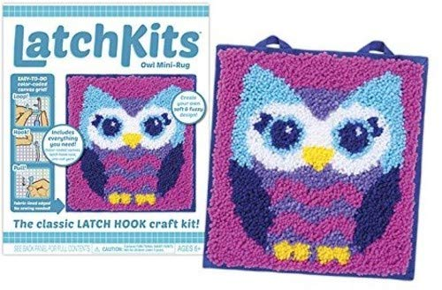 Ruxing Latch Hook Kit Beginner Friendly Cartoon Design Latch Hook Kits Set for Kids and Adults with All The DYI Tools and Supplies Included Perfect and Activity