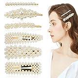 ZOYLINK 6 piezas de la pinza de pelo de moda perlas de imitación decoración del pelo broches para el cabello broches para el cabello para las mujeres
