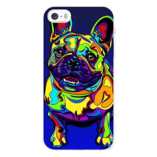 Multi-Color French Bulldog Case for iPhone 5/5s, 5/5s Protective Cover, Cellphone Case Cover Ultra-Thin Soft Microfiber