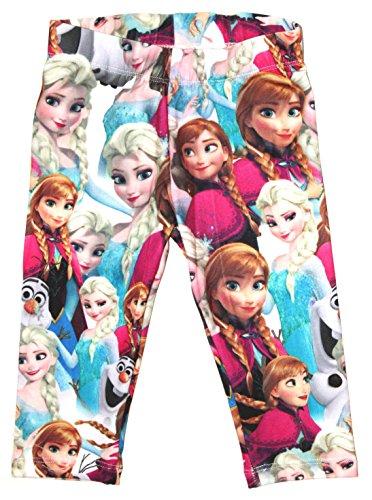 Disney Frozen Eiskönigin Kinder Capri-Leggins Gr.98-128 3/4 Hosen neu!, Größe:122/128