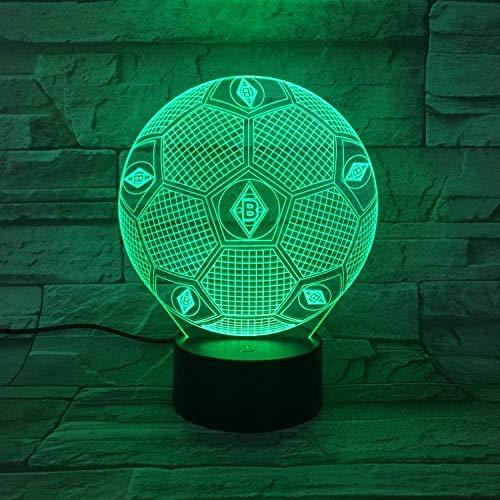 3D Nachtlicht Gladbach Fußball Illusion Tischlampe LED 7 Farbe Touch Fernbedienung Farbe Stimmungslampe USB Home Schlafzimmer Nachttischlampe