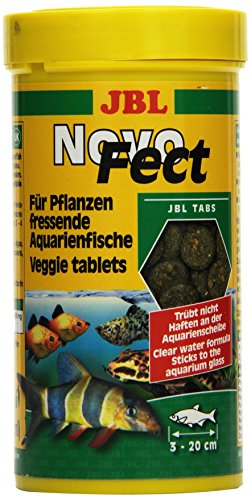 JBL NovoFect 30248, Alleinfutter für pflanzenfressende Aquarienfische, Tabletten, 250 ml