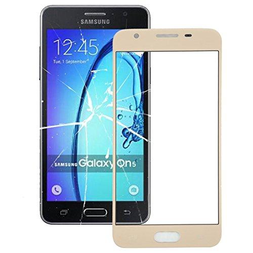 MEIHE-Parts Repuestos Nuevo para Samsung Galaxy On5 / G550 Pantalla Frontal Lente de Vidrio Exterior Reparacion de telefono Roto. (Color : Oro)