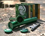Pistón de incendio con Firesteel incorporado - PYRO PISTON (edición verde)