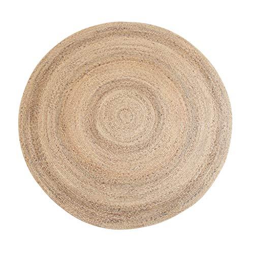 Alfombra de alfombra redonda idílica, planta de junco de agua natural Proceso tejido a mano - Adecuado para sala de estar Mesa de café Dormitorio Estudio de cabecera Restaurante-80cm ( Tamaño : 80cm )