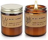 YMing Aromatherapie-Kerze mit großem Glasduft, 12,5 Unzen, Soja-Kerze aus Tabak und Sandelholz, Duftkerzen für zu Hause, handgegossene Aromatherapie-Kerzen Geschenke für Frauen. (2)
