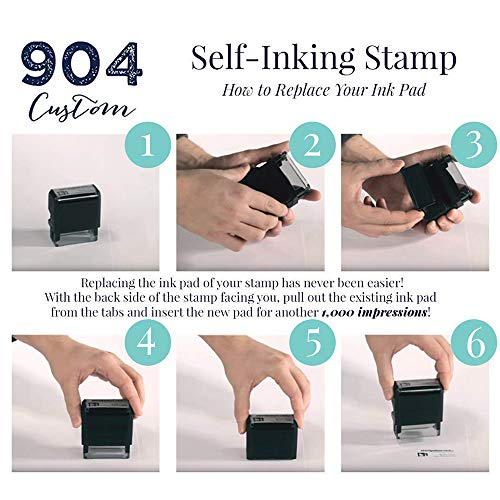 Custom Stamp - 20 Font Options - Self-Inking Address Stamp - Up to 3 Lines Photo #2