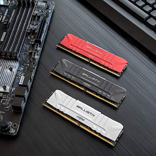 Crucial Ballistix 3200 MHz DDR4 DRAM Desktop Gaming Memory Kit 16GB (8GBx2) CL16 BL2K8G32C16U4R (RED) Massachusetts