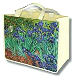 FRENCH SHOPPING TOTE BAG Painting Vincent Van Gogh The irises of 1889