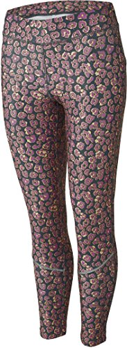 Crivit® Damen Sporthose, Leggings, 7/8-Länge (Gr. M 40/42, violett apricot schwarz - Leoparden-Muster)