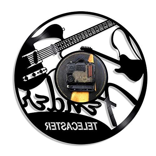 WAGUZA Diseño de Guitarra eléctrica Reloj de Pared con Dis
