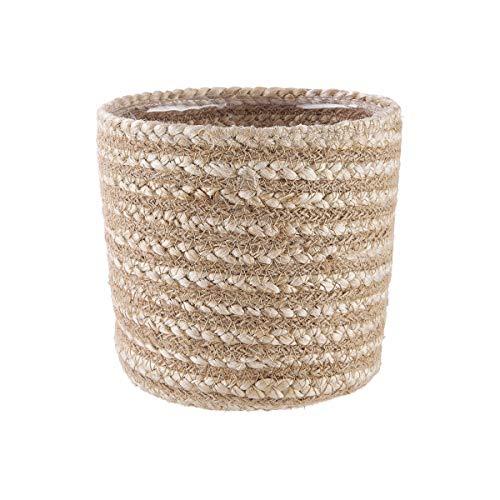 Butlers Rush Rope Korb für Pflanzen rund Ø14cm