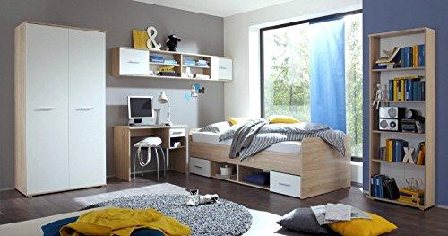 Jugendzimmer Eiche Sonoma/ weiss