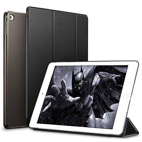 ESR iPad Mini 4 Hülle, Auto aufwachen/Schlaf Funktion Ledertasche mit durchschaubar Rückseite Abdeckung Leichtgewicht Anti-Kratzer Schutzhülle für iPad Mini 4 (Schwarz)