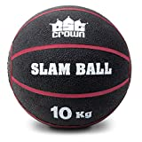 Crown Sporting Goods Slam Ball, Weighted Textured Rubber Ball – Strength & Conditioning Training Exercise Equipment for Gym, Home, Fitness Workouts 10kg (22lbs)